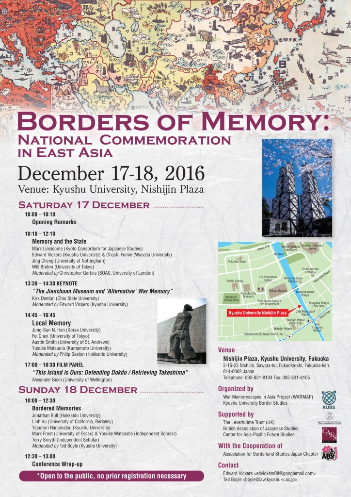 Borders of memory: National Commemoration in East Asia